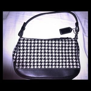 Coach houndstooth bag